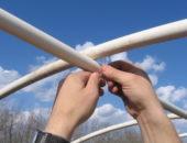 Сооружение каркаса теплицы из ПВХ-труб своими руками