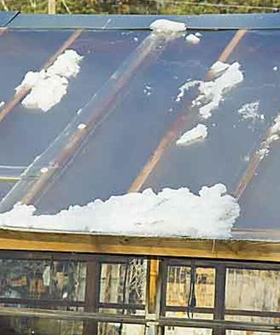 Можно ли сделать крышу стеклянной теплицы из поликарбоната?