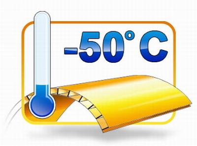 Какую отрицательную температуру выдерживает сотовый поликарбонат толщиной 4 мм?