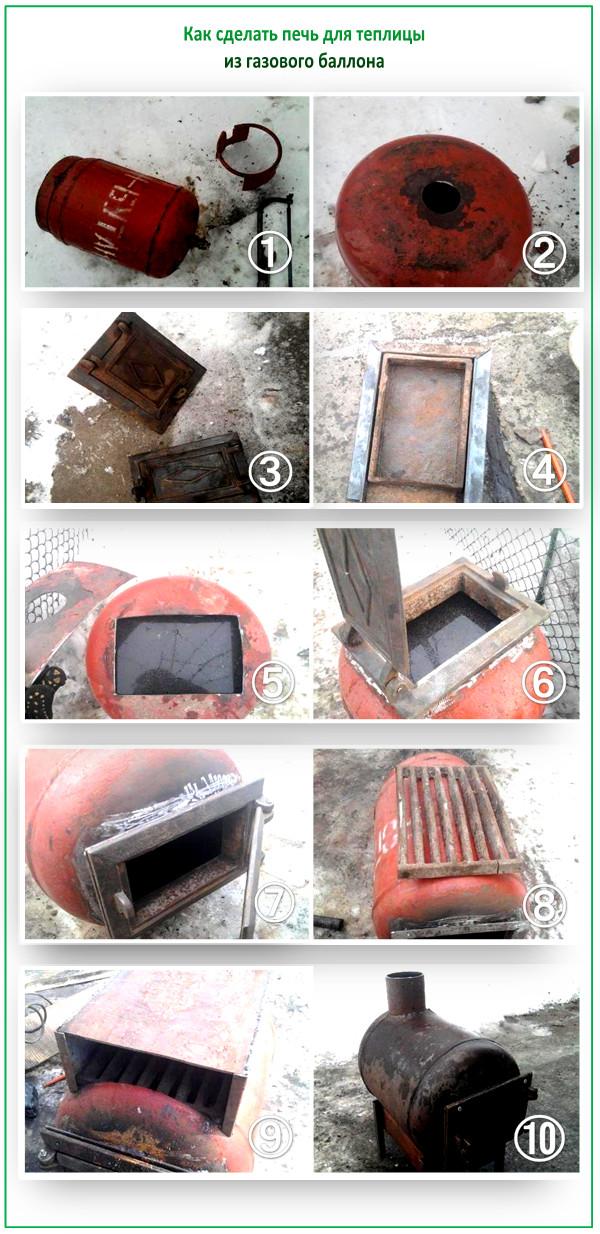 Как сделать экономную печь для отопления теплицы