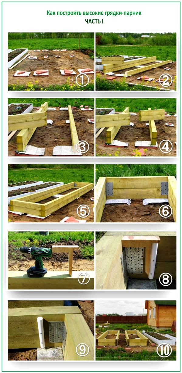 Как построить грядки из досок
