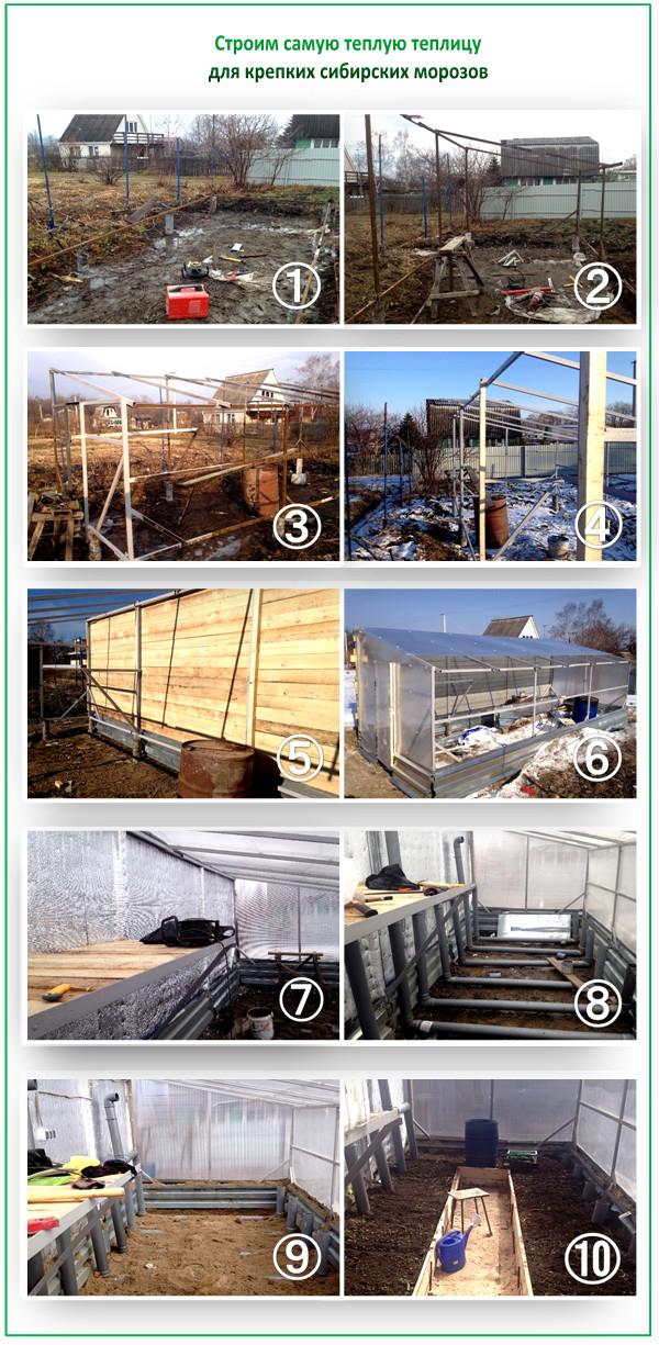 Как построить теплицу для Сибири