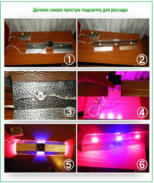 Лампа для рассады светодиодная своими руками