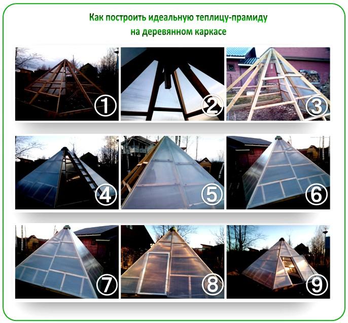Как построить теплицу-пирамиду