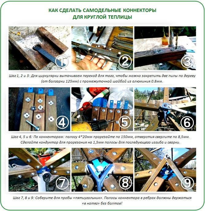 Как сделать коннекторы для геодезического купола