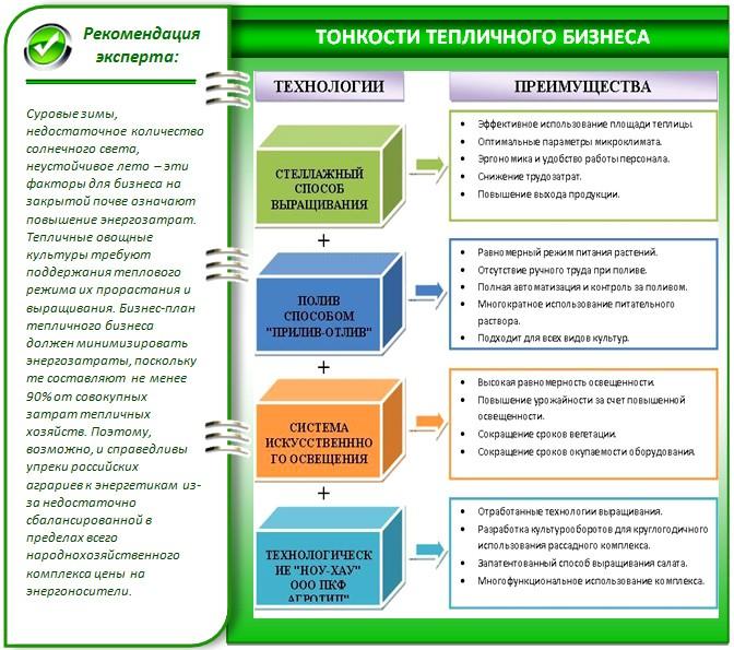 Технологии выращивания в теплице