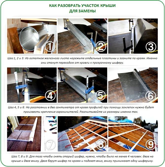 Как сделать крышу прозрачной для теплицы