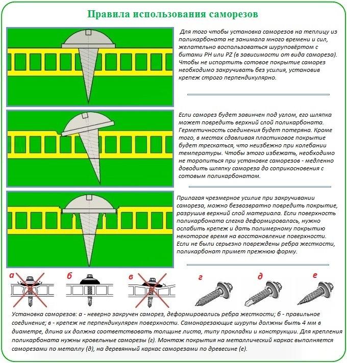 Как правильно покрыть теплицу поликарбонатом