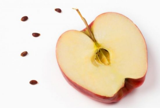 Яблоко сорта Рихард в разрезе