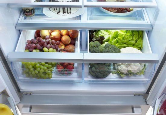 Отделение холодильника для овощей и фруктов