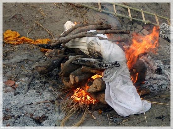 Сжигание одежды