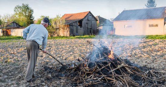 Сжигание мусора в огороде