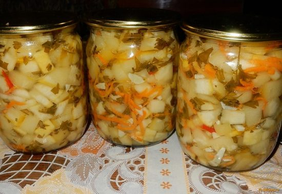 Острые кабачки с морковью
