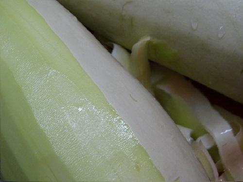 Очистка кабачка