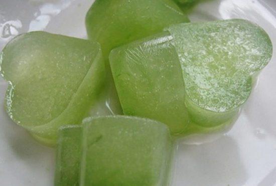 Замороженный огуречный сок