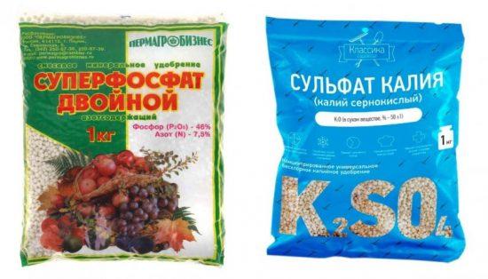 Сульфат калия и суперфосфат