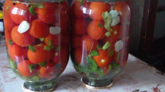 Закатанные томаты с лимонной кислотой
