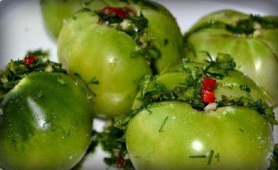 Солёные помидоры по-грузински
