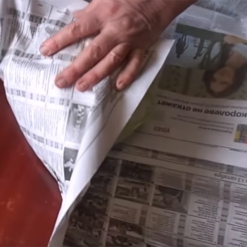 Капуста в газете
